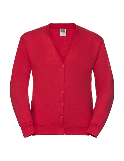 273M•ADULT SWEATSHIRT CARDIGAN, XL, OUT-classic red (05)