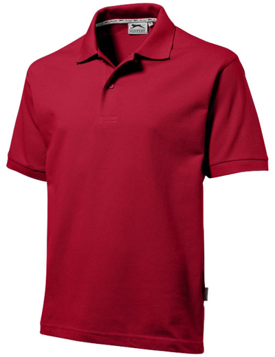 33S01•FOREHAND SHORT SLEEVE MEN'S POLO, 2XL, d red (28)