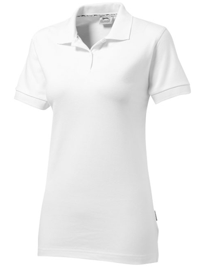 33S03•FOREHAND SHORT SLEEVE LADIES POLO, L, white (01)