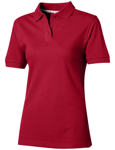 33S03•FOREHAND SHORT SLEEVE LADIES POLO, L, d red (28)