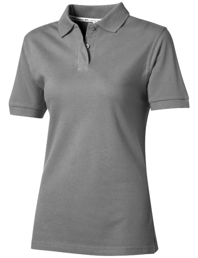 33S03•FOREHAND SHORT SLEEVE LADIES POLO, L, grey (90)