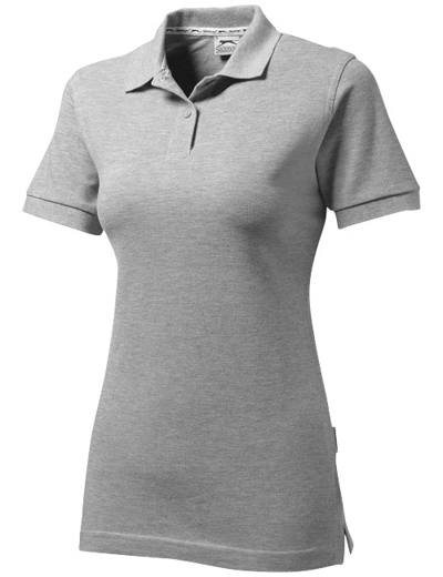 33S03•FOREHAND SHORT SLEEVE LADIES POLO, L, sport gr (96)