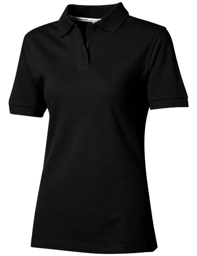 33S03•FOREHAND SHORT SLEEVE LADIES POLO, L, black (99)