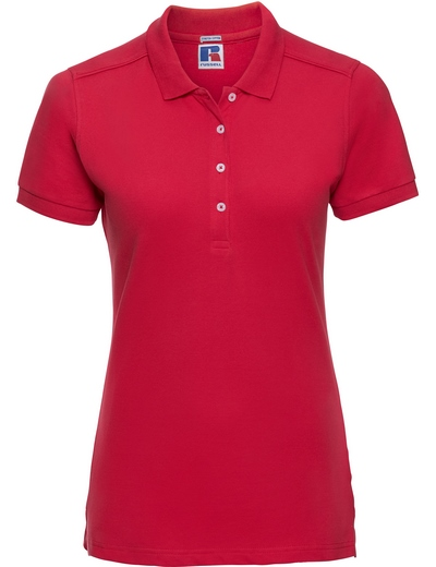 566F•LADIES STRETCH POLO, 2XL, classic red (05)