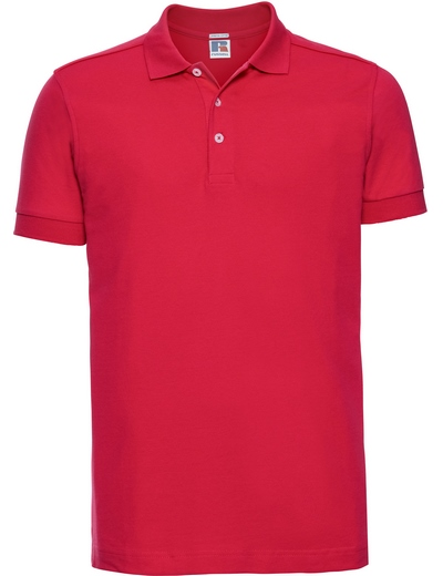 566M•MENS STRETCH POLO, 2XL, classic red (05)