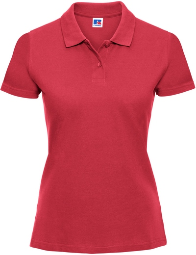 569F•LADIES CLASSIC COTTON POLO, 2XL, classic red (05)