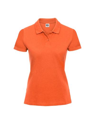 569F•LADIES CLASSIC COTTON POLO, 2XL, orange (10)
