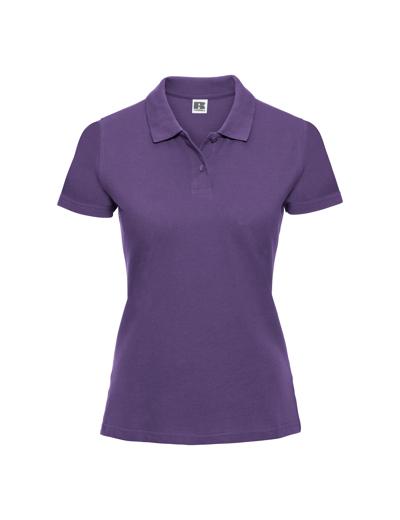 569F•LADIES CLASSIC COTTON POLO, 2XL, purple (13)