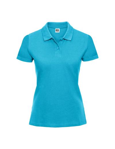 569F•LADIES CLASSIC COTTON POLO, 2XL, turquoise (54)