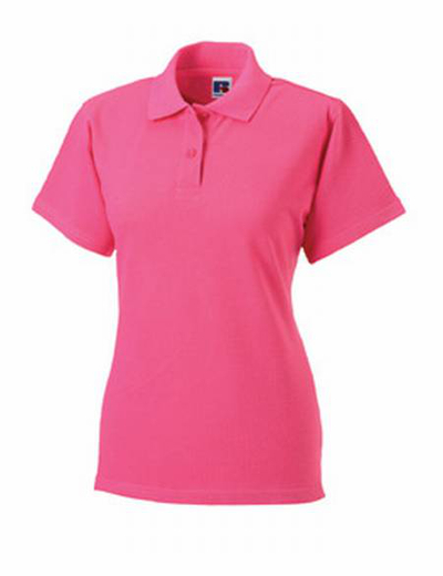 569F•LADIES CLASSIC COTTON POLO, S, OUT-rose (25)