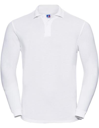 569L•ADULTS' L/S CLASSIC COTTON POLO, 2XL, white (01)