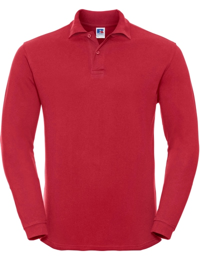 569L•ADULTS' L/S CLASSIC COTTON POLO, 2XL, classic red (05)