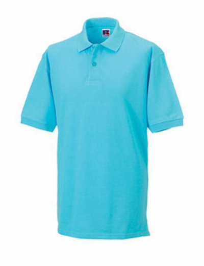 569M•MENS CLASSIC COTTON POLO, S, OUT-aqua blue (51)