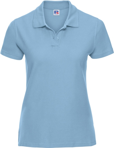 577F•LADIES' ULTIMATE COTTON POLO, 2XL, sky (12)