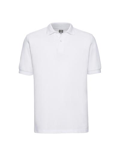 599M•MENS HARDWEARING POLO, 2XL, white (01)