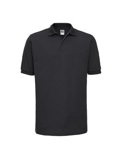 599M•ADULTS HARDWEARING POLYCOTTON POLO, 2XL, black (03)