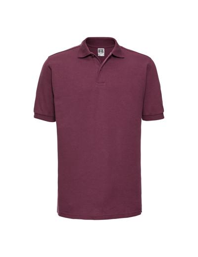 599M•ADULTS HARDWEARING POLYCOTTON POLO, 2XL, burgundy (08)