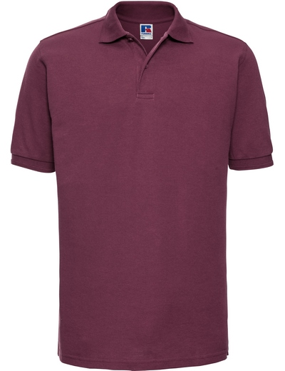 599M•MENS HARDWEARING POLO, 2XL, burgundy (08)