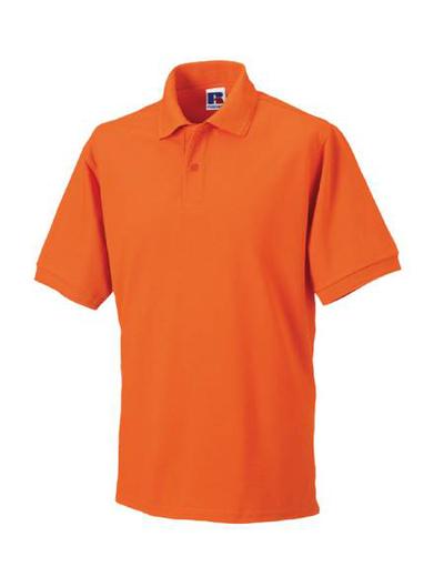 599M•MENS HARDWEARING POLO, S, OUT-orange (10)