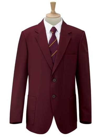 700M•BOYS BLAZER, 33, OUT-maroon (22)