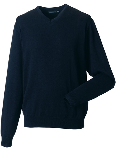 710M•MENS V NECK KNITTED PULLOVER, 2XL, french navy (04)