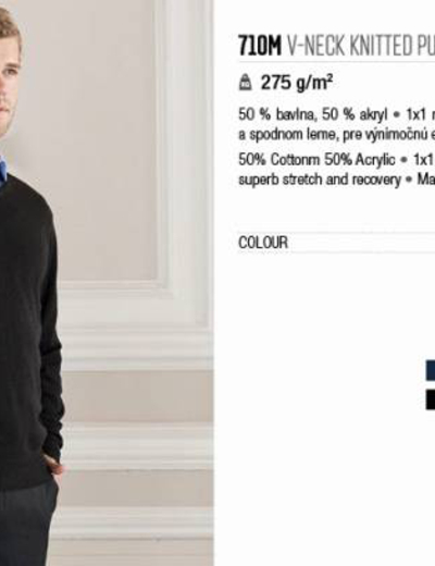 710M•MENS V NECK KNITTED PULLOVER
