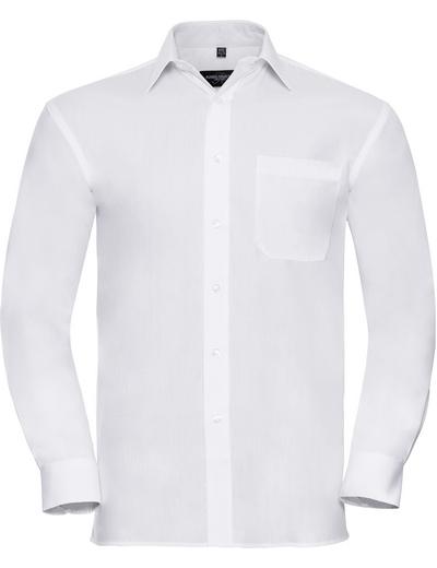 936M•MEN COTTON POPLIN SHIRT LSL, 2XL, white (01)