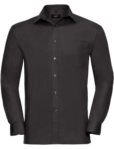 936M•MEN COTTON POPLIN SHIRT LSL, 2XL, black (03)