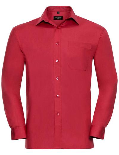 936M•MEN COTTON POPLIN SHIRT LSL, 2XL, classic red (05)
