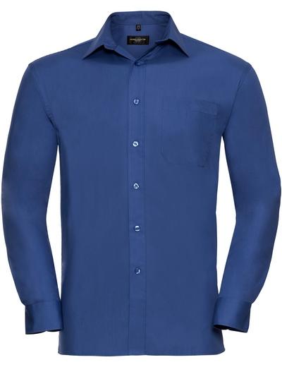 936M•MEN COTTON POPLIN SHIRT LSL, 2XL, aztec blue (20)