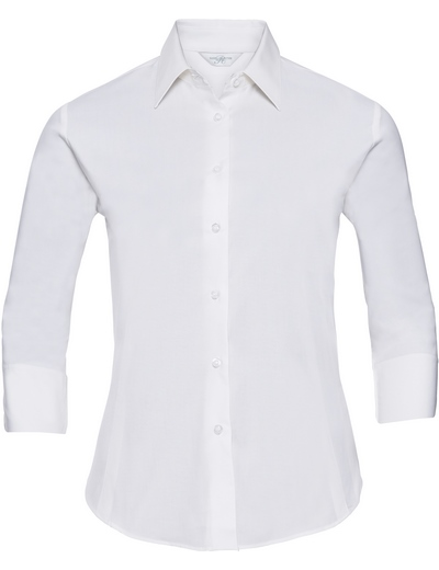 946F•LADIES' L/S EASY CARE FITTED SHIRT, 2XL, white (01)