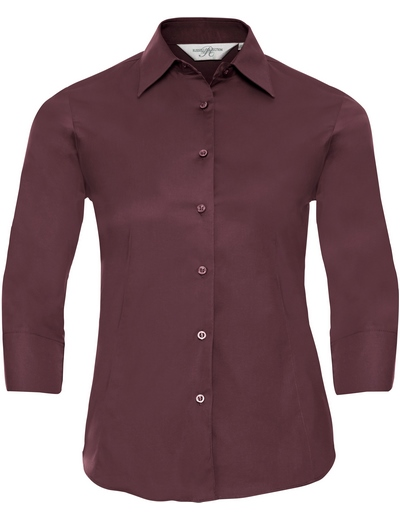 946F•LADIES' L/S EASY CARE FITTED SHIRT, 2XL, port (08)