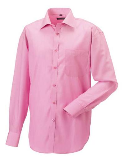 952M•MEN´S L.SL TENCEL CORPORATE SHIRT, L, OUT-br. pink (25)