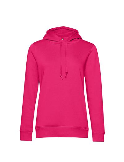 O79•B&C ORGANIC HOODED /WOMEN, 2XL, magenta pink (28)