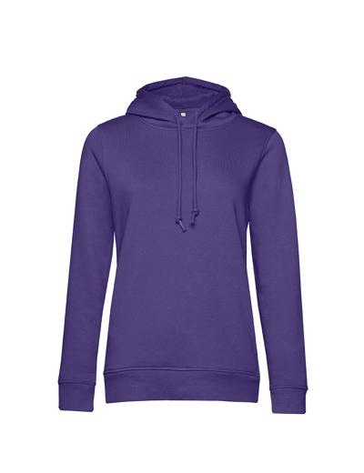 O79•B&C ORGANIC HOODED /WOMEN, 2XL, radiant purple (62)