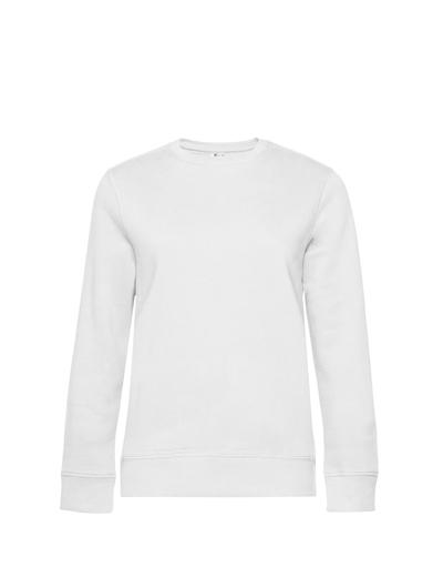 O83•B&C QUEEN CREW NECK, 2XL, white (01)
