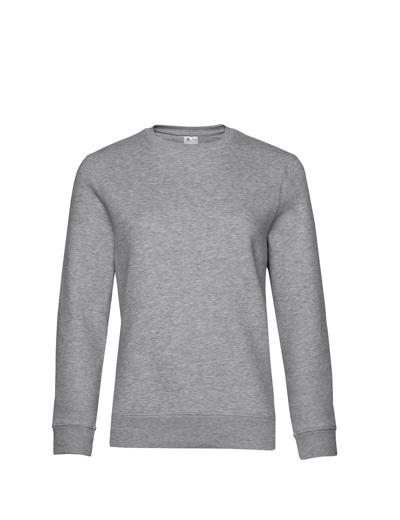 O83•B&C QUEEN CREW NECK, 2XL, heather grey (15)