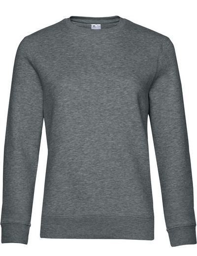 O83•B&C QUEEN CREW NECK, 2XL, heather mid grey (16)