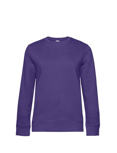 O83•B&C QUEEN CREW NECK, 2XL, radiant purple (62)